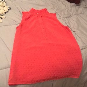 Jcrew coral sleeveless top size 2